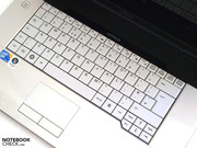 The keyboard and touchpad impress.