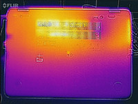 Thermal image of the bottom of the base unit