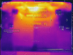 Thermal analysis, bottom of unit
