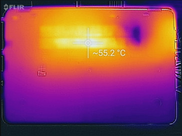 Thermal profile, bottom of unit