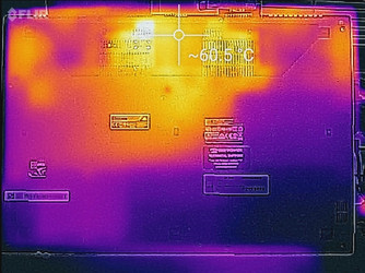 Thermal profile, underside