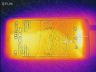 Heat map HTC Desire 530 front