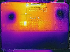 Thermal imaging, bottom of unit