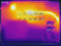 Thermal imaging, bottom of base unit