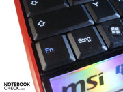We cannot understand why MSI placed the Fn-key to the left of the Ctrl-key...