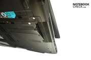 A further configuration feature of the Lifebook S710 is the exchangeable dust filter...
