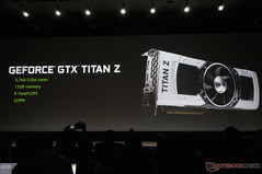 Moving on from Pascal, NVIDIA reveals the Titan Z GPU to succeed the Titan Black due to the success of the original Titan. The Titan Z carries dual Titan cores.
