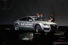 As a demonstration, an Audi A7 appeared onto the stage without a driver in sight
