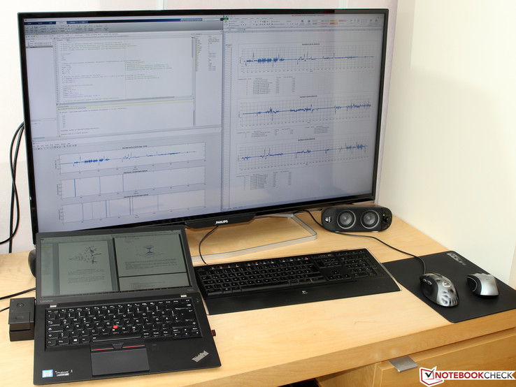 ThinkPad T460s at Philips BDM4065UC
