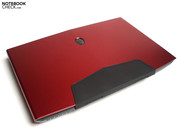 Alienware supposedly used anodized Aluminum for the notebook.