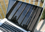 Tough to use outside: MBP 15 with glossy display