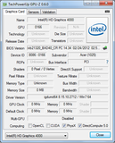 Systeminfo GPUZ Intel HD Graphics 4000