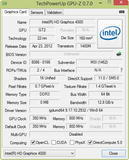 System info: GPUZ Graphics Card