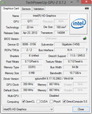 System info GPU-Z Intel HD Graphics (Ivy Bridge)