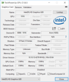 System info: GPU-Z Intel HD Graphics 520