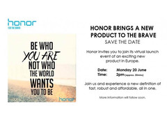 Huawei ready to announce new Honor device for Europe