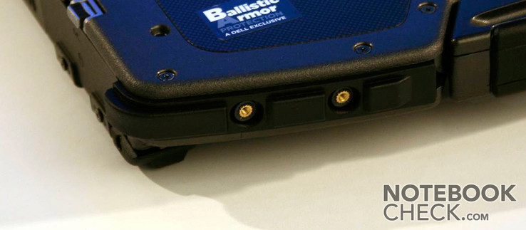The corners protected by rubber contain nuts on the front side, in which you can fix a strap.