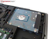 The P751ZM Barebone has two hard drive bays.