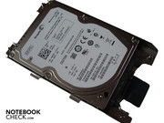 The SATA hard disk rotates with a fast 7200 rpm