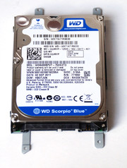 The current model is made by Western Digital, and has a 640 GB capacity.