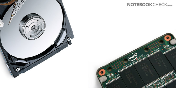 Rotating magnetic disks in HDDs versus memory chips on SSDs