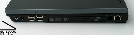 HP Compaq 8710p Interfaces