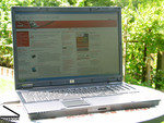 Test HP Compaq 8710p Outdoor