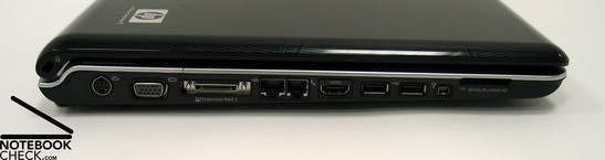 HP Pavilion dv9580eg Interfaces