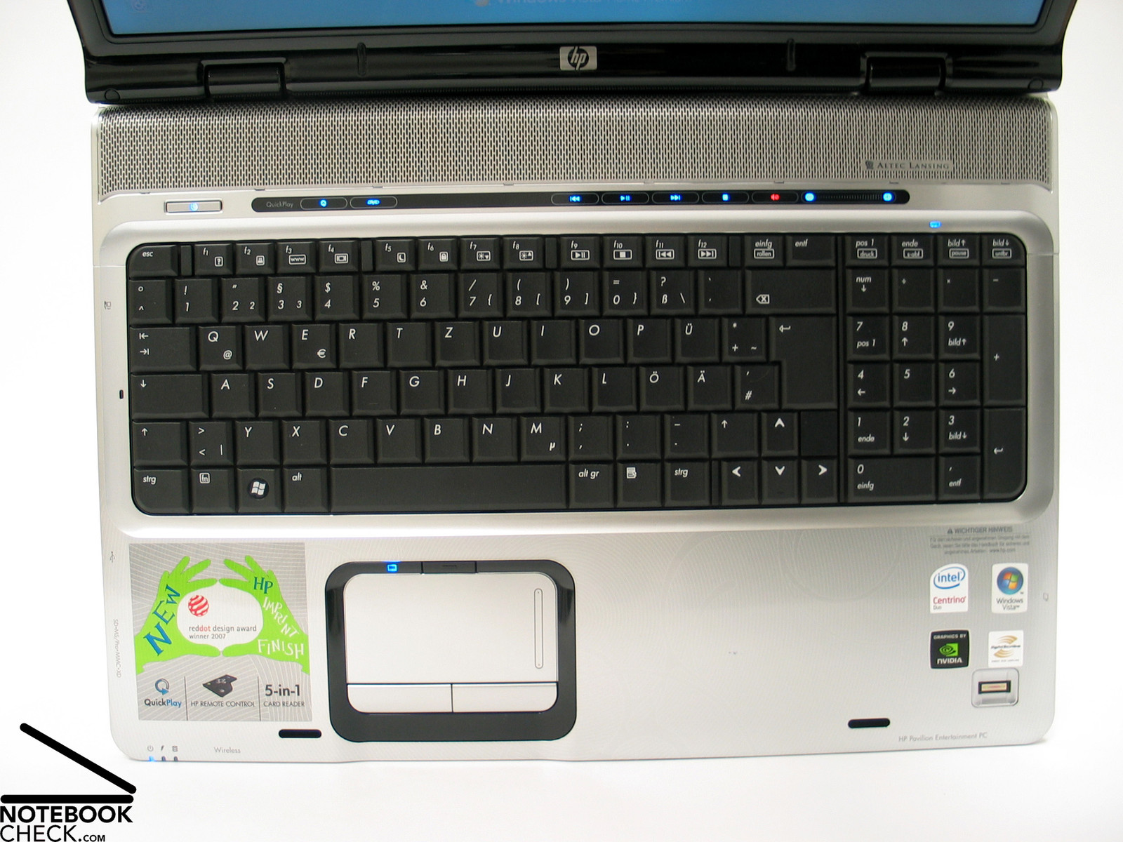 Review HP Pavilion dv9580eg Notebook - NotebookCheck net Reviews