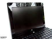 Due to the good brightness and matt edition, the netbook can also be used outdoors without hesitation.