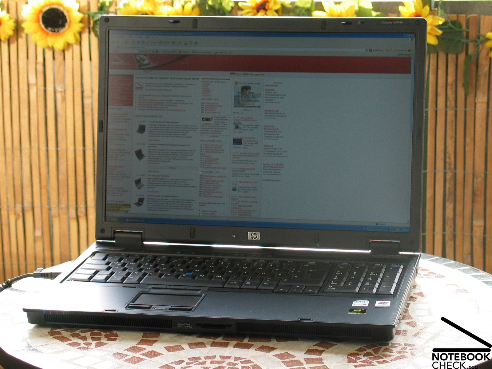 Review HP Compaq nw9440 Notebook - NotebookCheck net Reviews