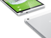 The tablet is rather lightweight, offering small bezels.
