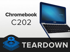 Asus Chromebook C202 is easily reparable according to iFixit