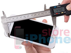 iPhone 6 mockup photographed and measured from all sides