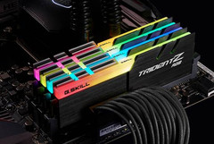 Trident Z RGB RAM sticks feature customizable color and lighting effects. (Source: G.SKILL)