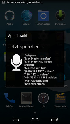 The Google apps are missing, so you get alternatives like the voice control, which is better in English than in German.