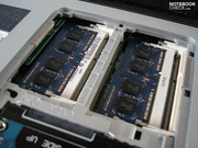 The four RAM slots accommodate a maximum of 16 GBs.