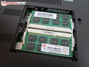 Two memory slots with 8 GB each.