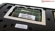Toshiba has installed 8 GB DDR3-RAM (2x 4096 MB).