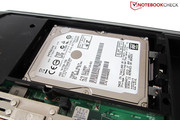 A 750 GB HDD serves data memory.