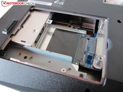 The second 2.5-inch hard drive can be found beneath the optical drive.