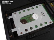 Up to two hard disks fit in the Qosmio's case...