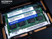 The DDR3 RAM comes from A-DATA. Both slots are already occupied with 2x 2048 MBytes.