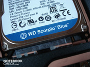 The hard disk comes from Western Digital's fast Blue range
