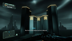 The optional tutorial is stylistically reminiscent of Tron: Legacy...