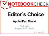 Editor's Choice in October 2015: Apple iPad Mini 4