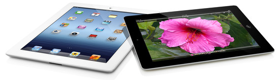 Apple: iPad 3 black and white
