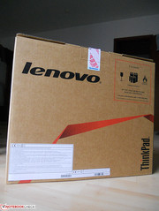 Lenovo's ThinkPad Edge E335 comes in a simple, rather unstylish box.