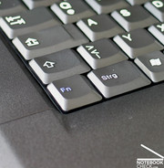 ...with the usual idiosyncratic keyboard layout, like for example the FN key in the left lower corner.