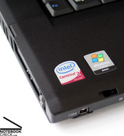 The T500 has a surprise regarding performance: It is possible to switch between an integrated Intel GMA 4500MHD and a dedicated ATI Radeon HD3650 graphics card.